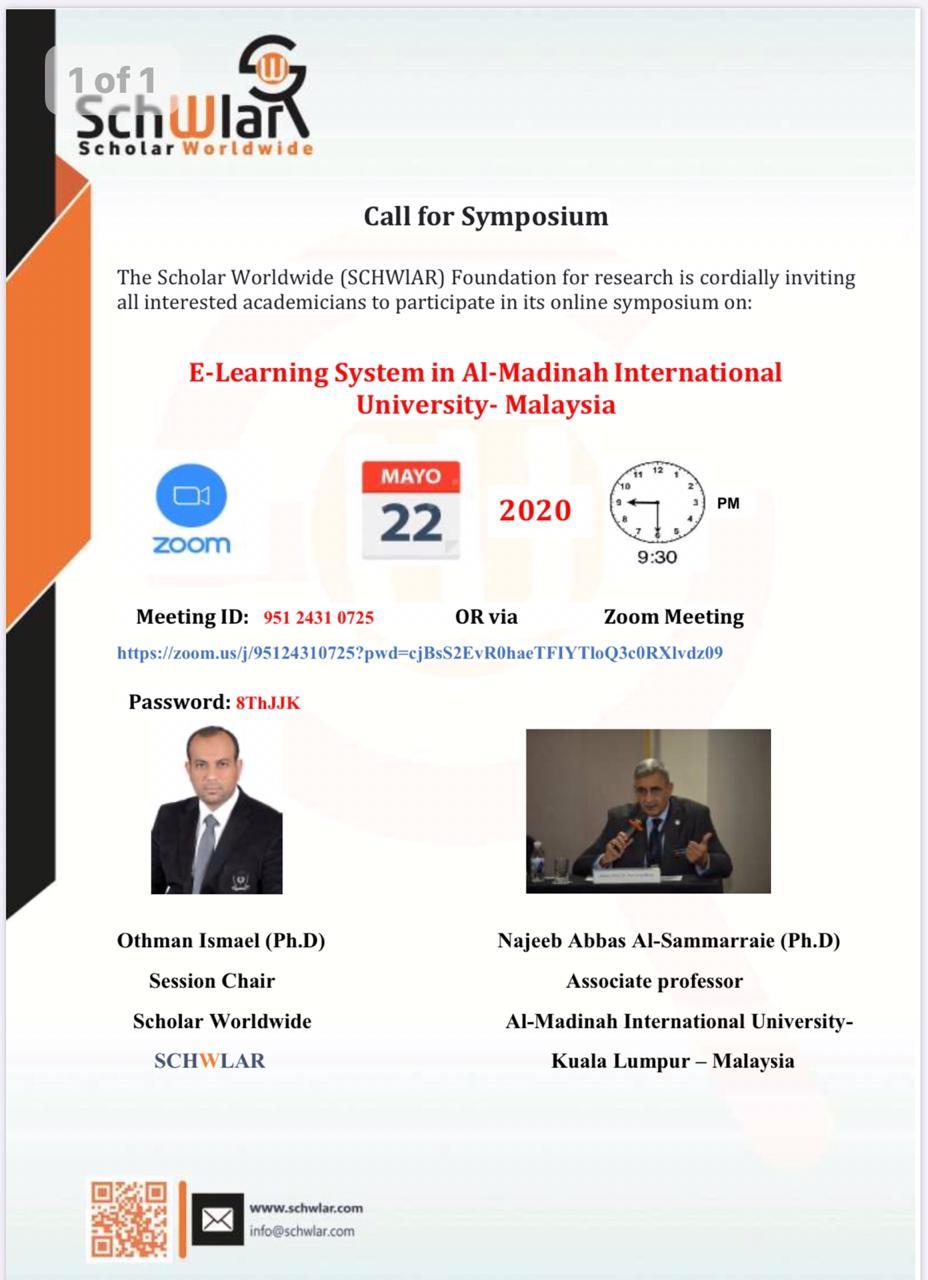 E-Learning System at Al-Madinah International University- Malaysia
