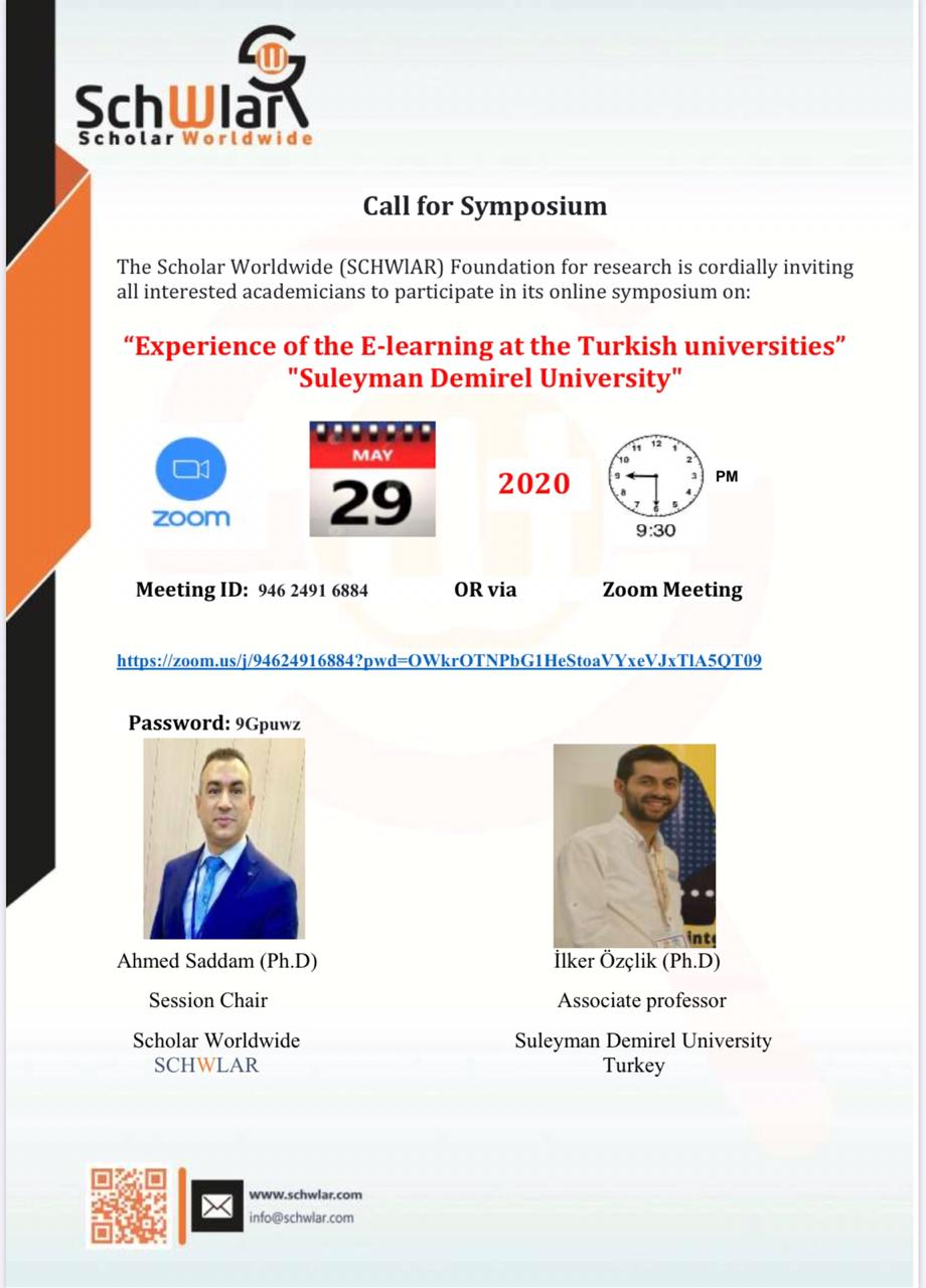 """""""Experience of the E-learning at the Turkish universities"""" """"Suleyman Demirel University"""""""
