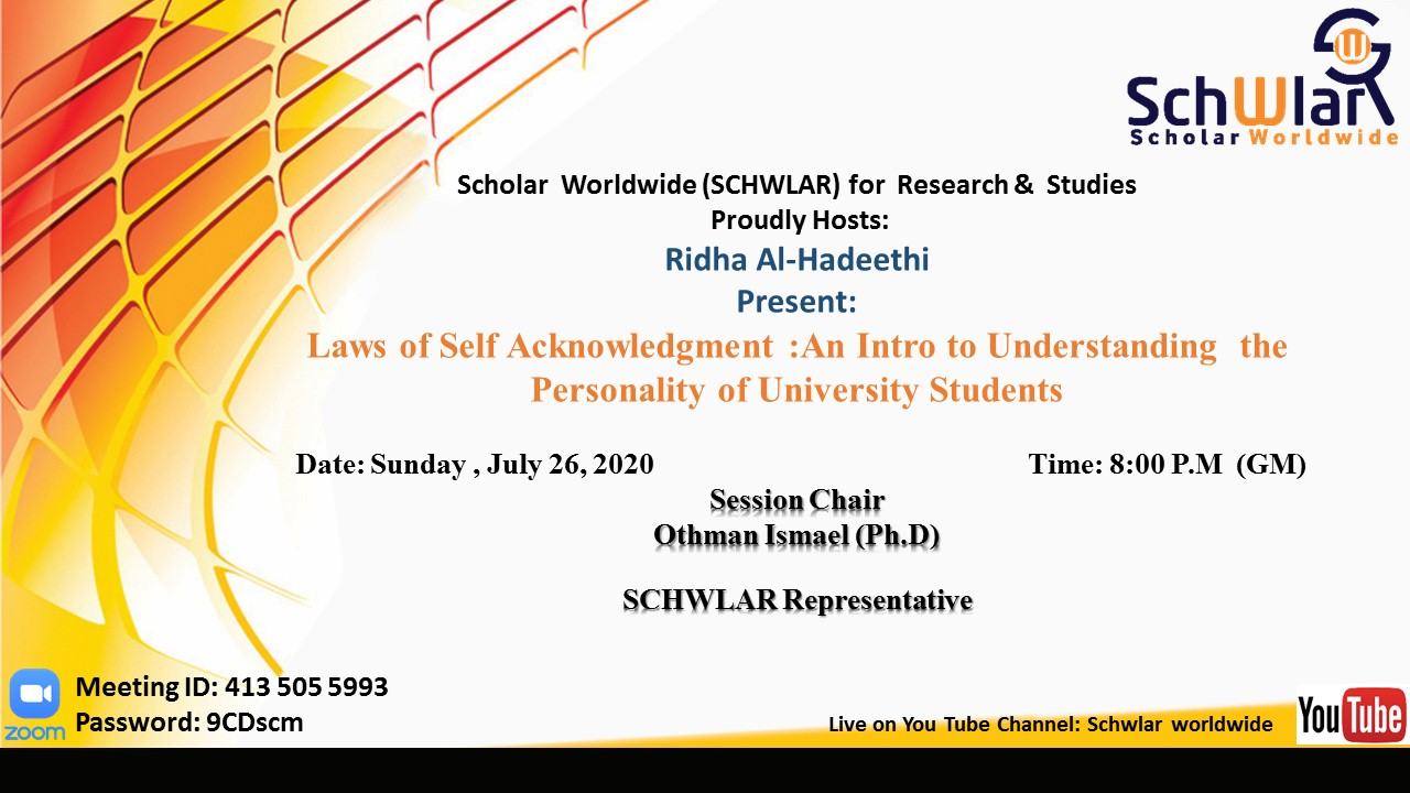 Laws of Self Acknowledgment :An Intro to Understanding the Personality of University Students
