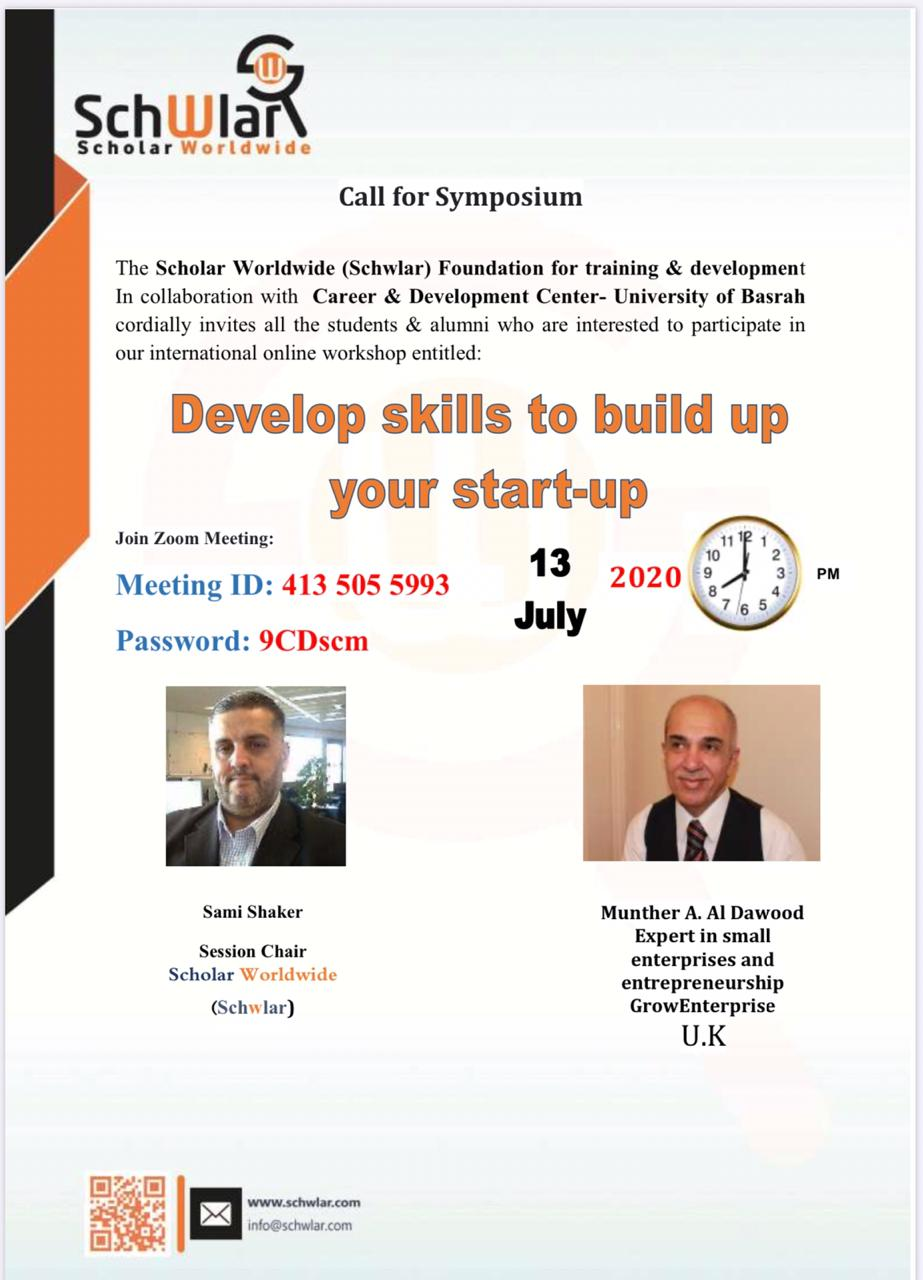 Develop skills to build up  your start-up