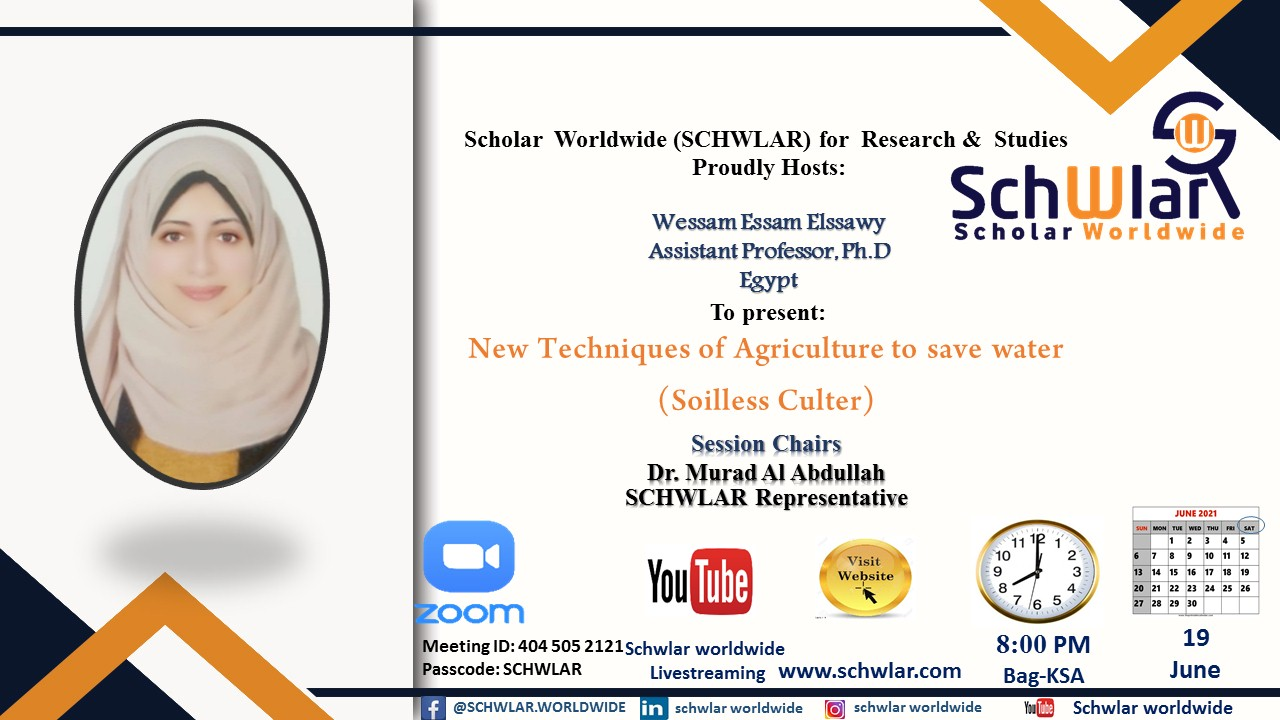 New Techniques of Agriculture to save water